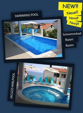 Swimming pool and jacuzzi-wirlpool